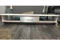 White and silver tv stand for sale