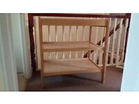 Baby Changing Table - John Lewis Luca (light wood colour) great condition