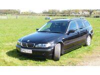 2002 (april) Bmw facelift E46 320i Tourer Auto/manual in black