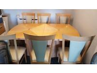 STUNNING TABLE & 6 CHAIRS