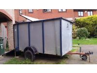 Large Trailer (internally 4ft x 8ft), needs repair to left wheel housing. BEST OFFER