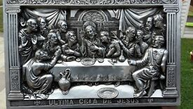picture of the last supper in pewter