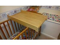 Cot top changer / changing table
