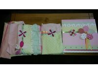 Next 'Emily Ruffles' girls bedroom bundle - includes curtains, duvet, pillow and canvas picture