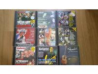 8x guitarist CD's.