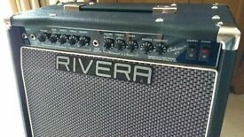 Rivera Clubster 45 valve combo amplifier with footswitch
