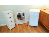 Three Piece Freestanding Bathroom Unit Set VERY GOOD CONDITION
