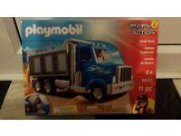 Playmobil USA tipper truck. New