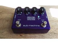 Fuzz/octaver bass pedal effect - mxr submachine! Mint condition