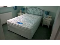 Silent Night Double Divan, Matress and Headboard - very good condition