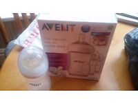 3 avent 260ml/9oz baby feeding bottles