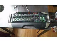 GENUINE MAD CATZ CYBORG V7 TRI-COLOR BACKLIGHT UK PC GAMING KEYBOARD