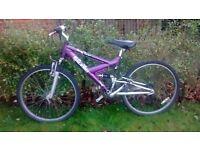 Girl's Raleigh Siren full suspension bike