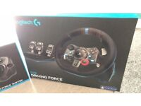 Logitech G29 steering wheel and shifter accessory