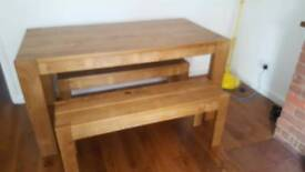 Next Dining room table with 2 benches