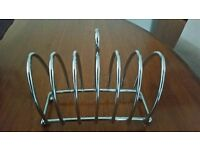 Solid chrome silver 6 slice toast / crumpet/ mufffin rack