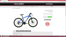 BRAND NEW (REDUCED) mens mountain bike raleigh NOW 200