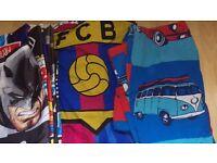 3 boys bedding sets - Batman, minis and Barcelona