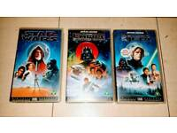 V8NTAGE STAR WARS VHS CASSETTE COLLECTION. CAN POST.