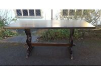 Vintage Oak Refectory Style Rustic/Farmhouse Style Dining Table Shabby Chic/Upcycle/Paint Project