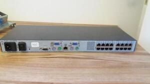 Dell PowerEdge 2160AS Console KVM Switch - (16) Ports - 1U Rack-Mount - 0TD064