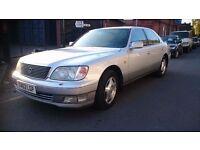 1999..LEXUS LS400 V8..LONG MOT.AUTOMATIC..SAT NAV..1 OWNER..CLEAN CAR