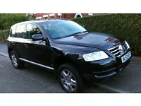 Volkswagen Touareg 03 Petrol, V6 AUTO 3 litre, Full Leather interior, Low Miles, MOT till May