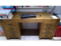 Solid wood desk, must go by the end of the month
