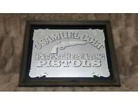 Samuel Colt advertising wall mirror