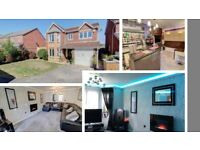 Spacious 4 bed detached - South Kirkby, Pontefract - integral bar, conservatory, office / workshop