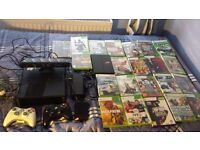 Xbox 360 Slim 250GB, Kinect, 2 Controllers, 23 Games