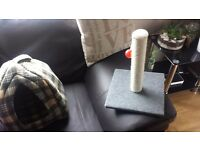 Scratch post, cat bed and booth brand new