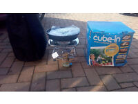 Stove / barbecue - French 'Cube-in' cooking system with gas canister and regulator