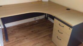 Corner desk & cabinet