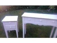 DRESSING TABLE & 2 BEDSIDE CABINETS