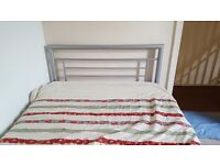 Small double bed. Nearly new