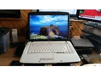 acer aspire 5315 windows 7 120g hard drive 2g memory wifi dvd drive comes with charger
