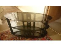 Glass 3-tiered TV Unit