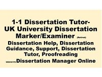 1 to 1 Tutor, Dissertation Help, Dissertation Guidance, Support, Dissertation Tutor, proofreading