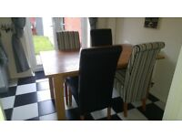 For Sale - Wooden Dining Table & 4 Chairs