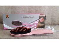HAIR STRAIGHTENER BRUSH - NEW - BOXED