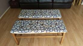 2X wooden bench seats