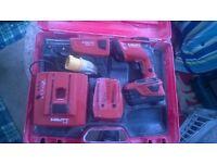 Hilti collated screwgun, 110 charger,2 batteries.. HILTI DRILL SF22 .