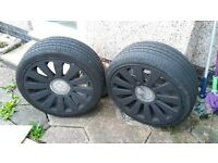 "VW Beetle 18"" alloy wheels with almost new tyres"
