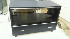 TV stand with sliding tray and drawer