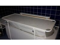drying/changing table fits above bath wall mounted with support legs 800mm x1700mm