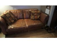 2 DFS leather sofas