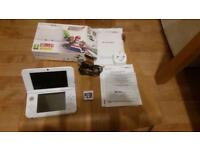 Nintendo 3DS XL Super Mario 3D Land White Handheld System plus 1 game