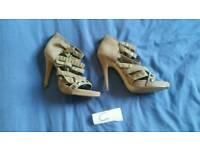Ladies f&f heeled shoes footwear fashion feet