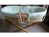 Moses basket with stand mattress and sheets